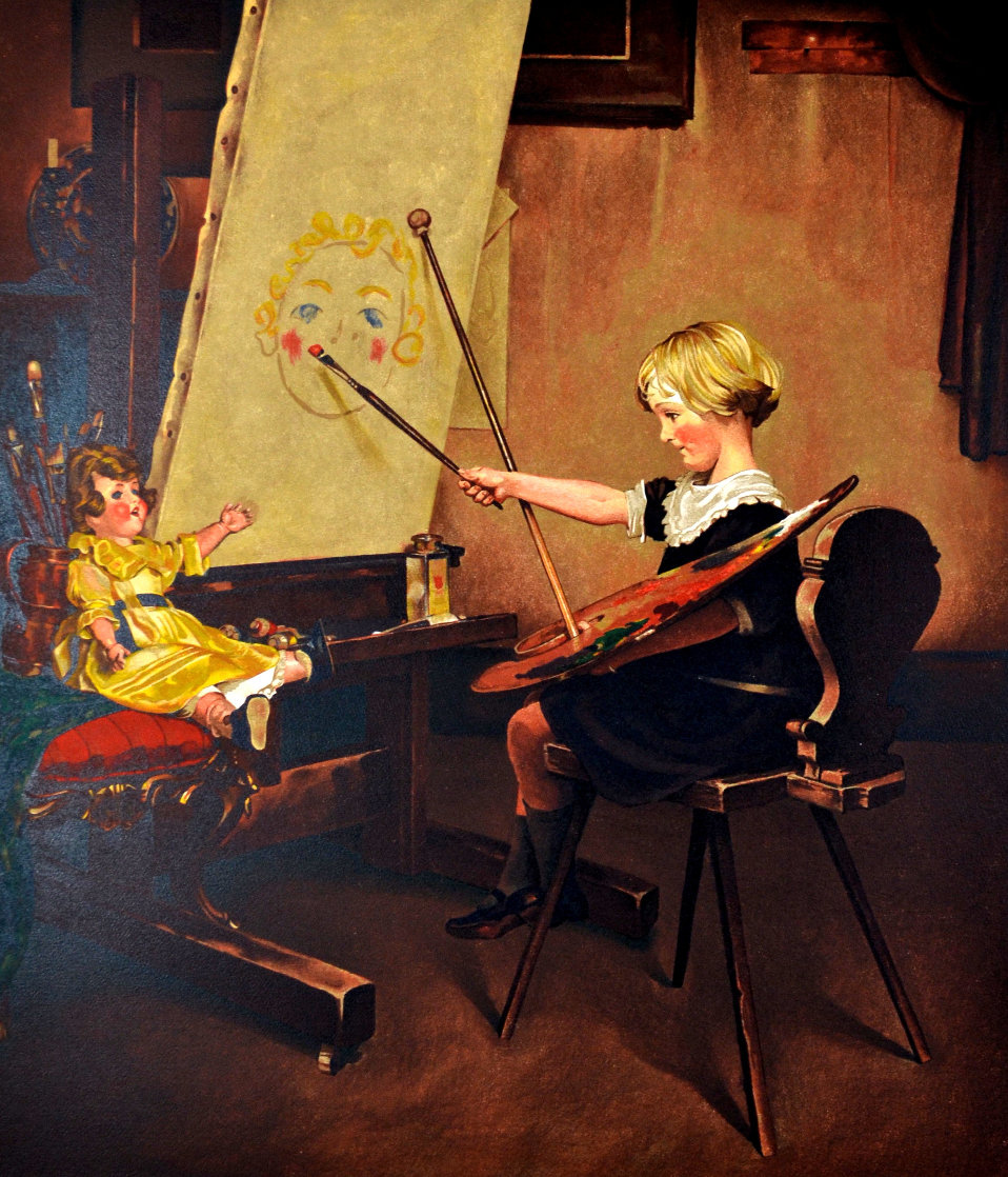 Artist Daughter AP: Encore Edition Limited Edition Print by Norman Rockwell