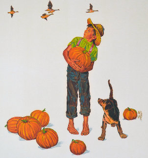 Autumn Harvest: Encore Edition Limited Edition Print - Norman Rockwell