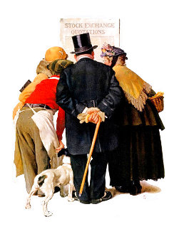 Stock Exchange AP 1982  Limited Edition Print - Norman Rockwell