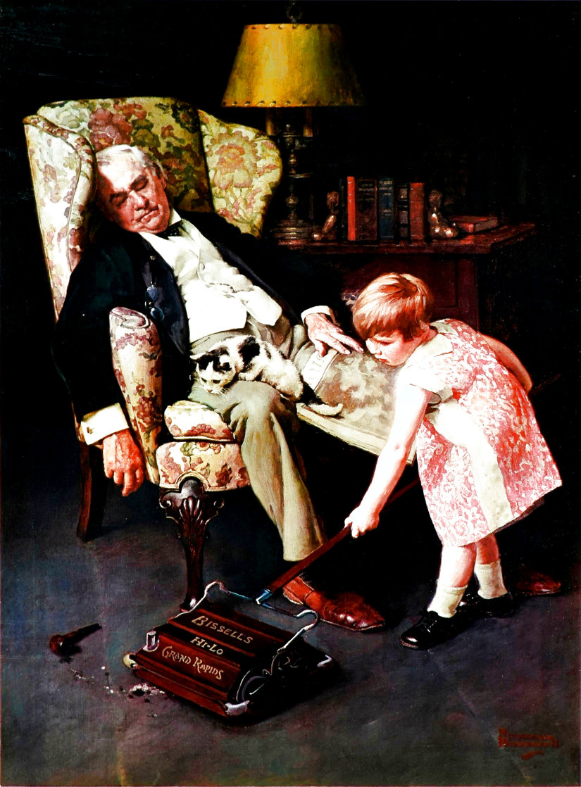 Pals 1976 Advertisement for Bissell Limited Edition Print by Norman Rockwell
