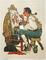Ye Pipe And Bowl AP Limited Edition Print by Norman Rockwell - 2