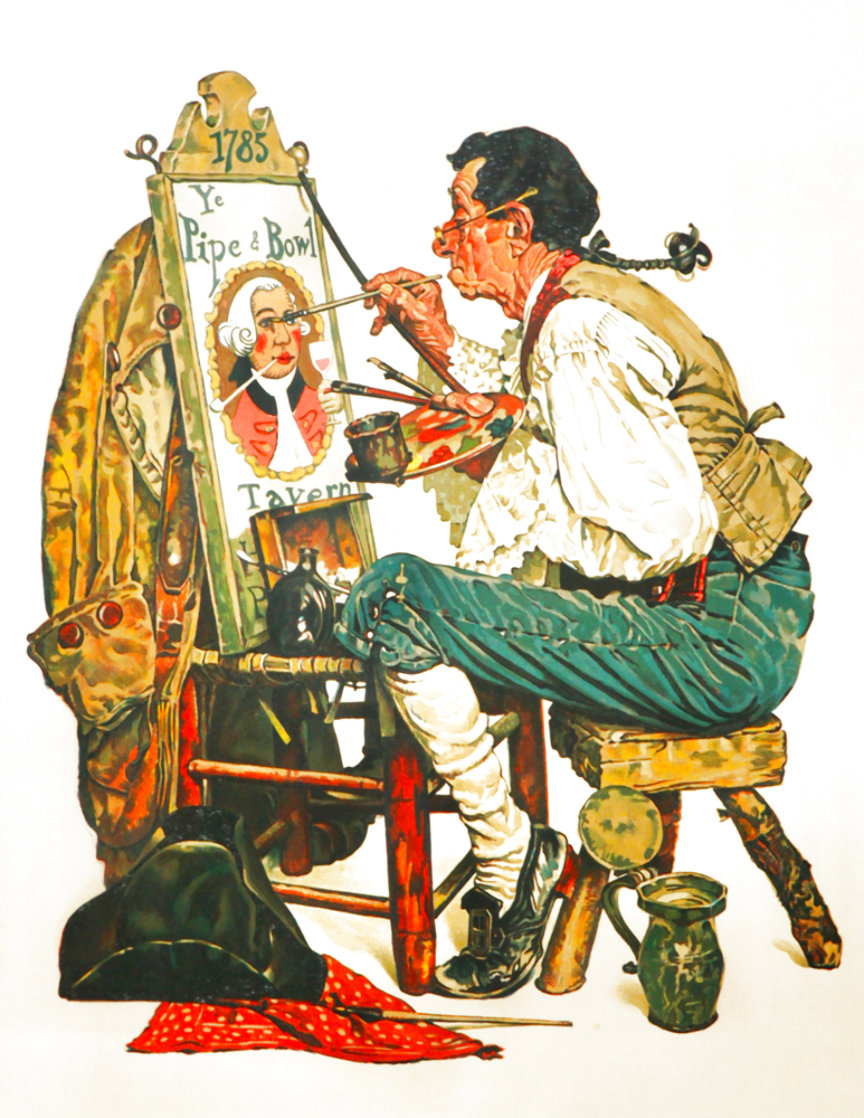 Ye Pipe And Bowl AP Limited Edition Print by Norman Rockwell