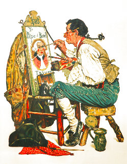 Ye Pipe And Bowl AP Limited Edition Print - Norman Rockwell
