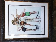 Four Sporting Boys: Basketball Limited Edition Print by Norman Rockwell - 1