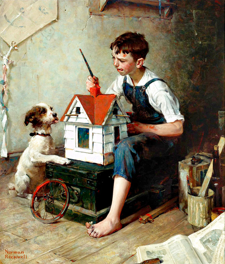Painting the Little House 2011 Limited Edition Print by Norman Rockwell