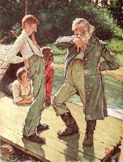 Huckleberry Finn Suite of 8 Prints 1972 HS Limited Edition Print - Norman Rockwell