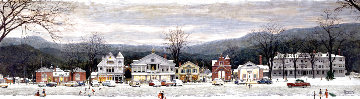 Main Street Stockbridge Christmas 1970 HS Limited Edition Print - Norman Rockwell
