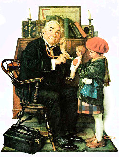 Doctor And the Doll 1972 Limited Edition Print - Norman Rockwell