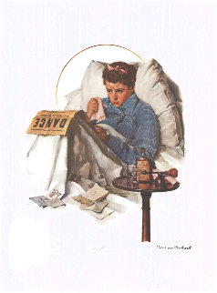 Cold 1950 Limited Edition Print - Norman Rockwell