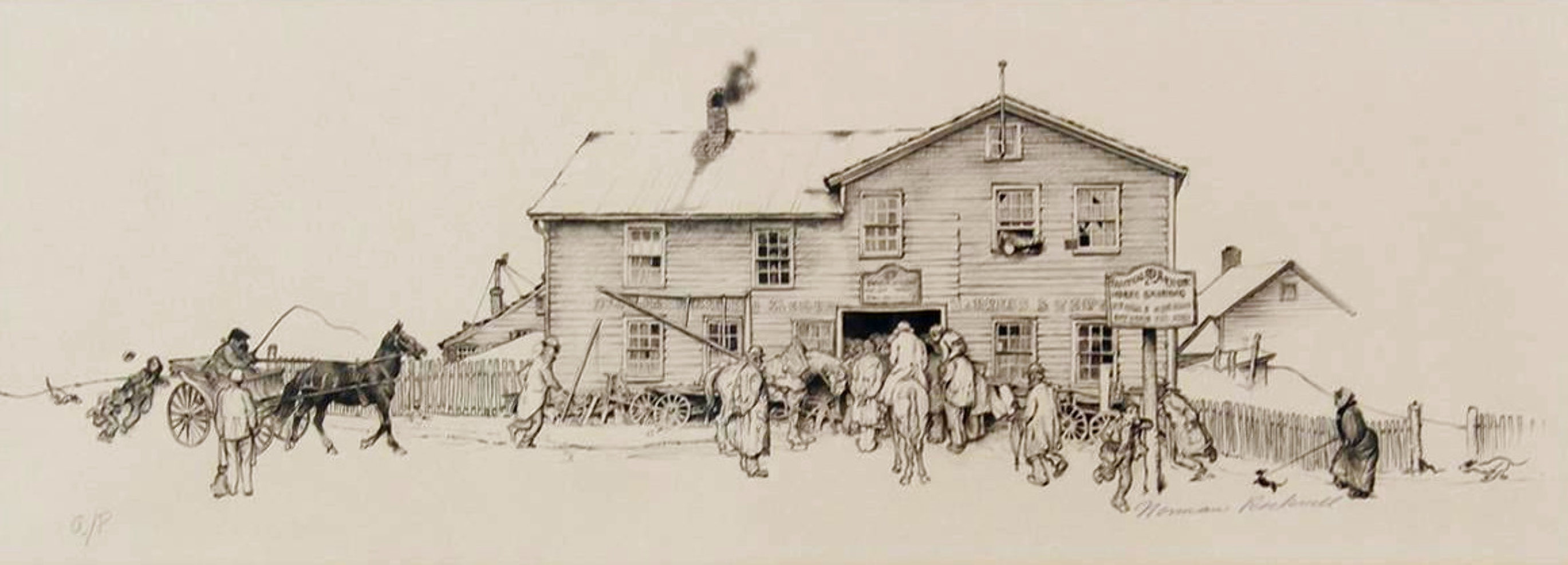Blacksmith Shop 1971 Limited Edition Print by Norman Rockwell