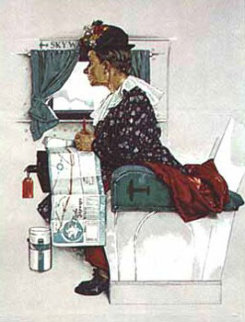 First Airplane Ride Limited Edition Print by Norman Rockwell