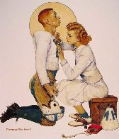 Football Hero Limited Edition Print by Norman Rockwell - 0