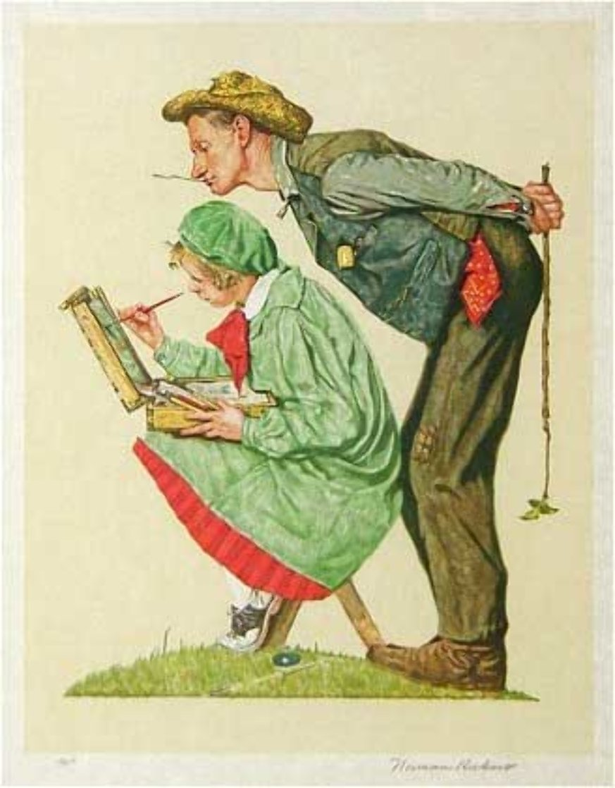 Hayseed Critic 1976 Limited Edition Print by Norman Rockwell