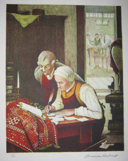 Poor Richards Almanac Suite of 7 1973 Limited Edition Print - Norman Rockwell