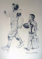 Football Mascot 1973 Limited Edition Print by Norman Rockwell - 0