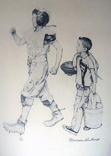 Football Mascot 1973 Limited Edition Print - Norman Rockwell