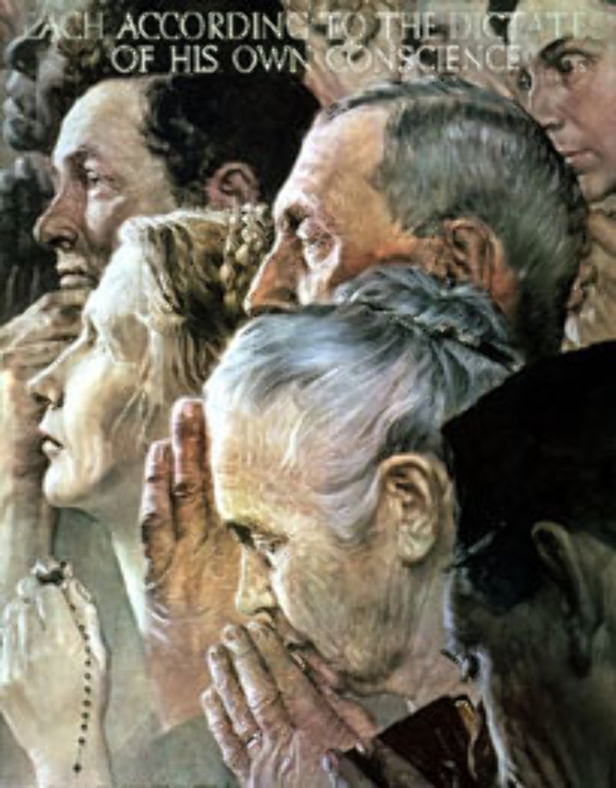 Freedom of Religion 1972 Limited Edition Print by Norman Rockwell