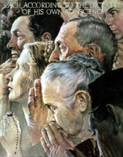 Freedom of Religion 1972 Limited Edition Print - Norman Rockwell