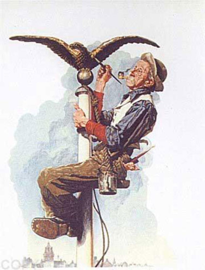 Guilding the Eagle 1976 Limited Edition Print by Norman Rockwell
