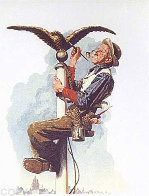 Guilding the Eagle 1976 Limited Edition Print by Norman Rockwell - 0