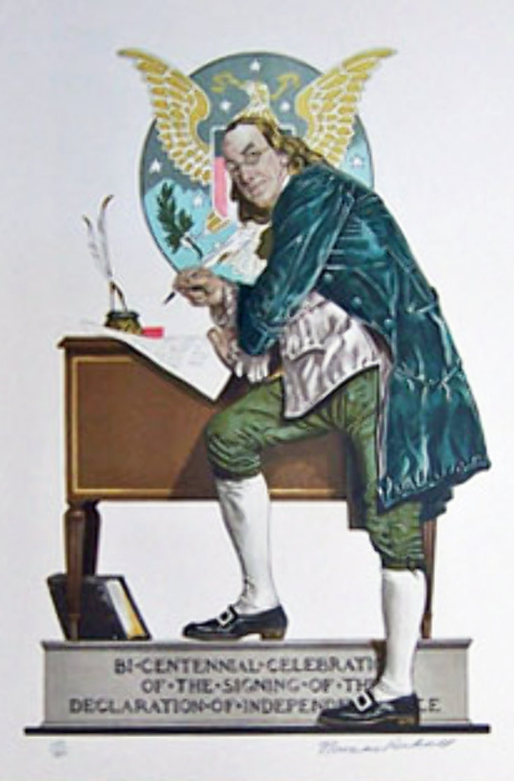 Ben Franklin 1976 Limited Edition Print by Norman Rockwell