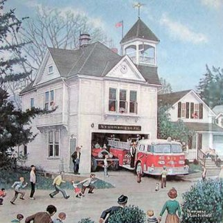 New American Lafrance Is In Poster HS Limited Edition Print - Norman Rockwell