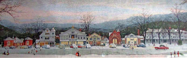 Main Street Stockbridge Poster HS Limited Edition Print by Norman Rockwell