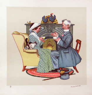 Four Ages of Love Suite  of 4  Limited Edition Print by Norman Rockwell
