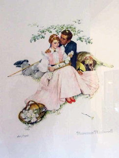 Flowers in Tender Bloom 1955 Limited Edition Print by Norman Rockwell