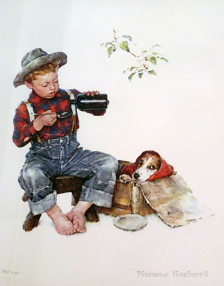 Mysterious Malady 1958 Limited Edition Print by Norman Rockwell