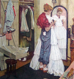 Before the Dance AP  Limited Edition Print - Norman Rockwell