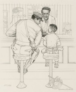 Runaway Black and White HS Limited Edition Print - Norman Rockwell