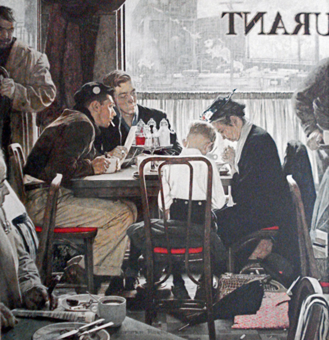 Saying Grace AP Limited Edition Print by Norman Rockwell