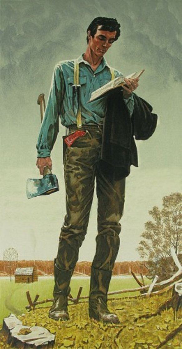 Young Lincoln AP 1977 Limited Edition Print by Norman Rockwell