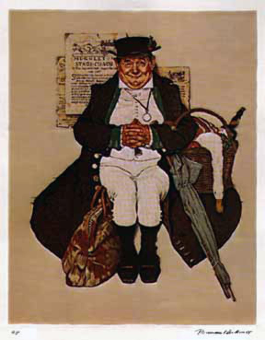 Muggleton Stagecoach AP Limited Edition Print by Norman Rockwell