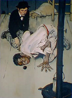 Huckleberry Finn - Jim Got Down on His Knees HS Limited Edition Print - Norman Rockwell