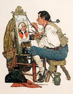 Ye Pipe And Bowl AP 1976 Limited Edition Print - Norman Rockwell