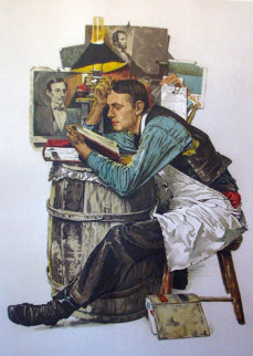 Law Student AP 1976 (Lincoln) Limited Edition Print by Norman Rockwell
