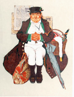 Muggleton's Stagecoach AP Limited Edition Print - Norman Rockwell