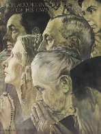 Freedom of Worship AP 1970 Limited Edition Print by Norman Rockwell - 0