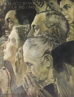 Freedom of Worship AP 1970 Limited Edition Print by Norman Rockwell