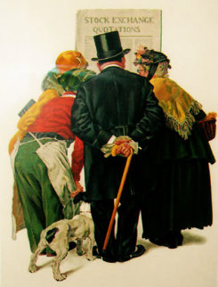 Stock Exchange AP 1977 Limited Edition Print by Norman Rockwell