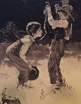 Tom Sawyer Suite of 8 Sepia Lithographs Limited Edition Print - Norman Rockwell