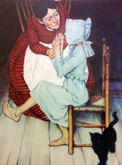 My Hand Shook, From the Huck Finn Collection AP 1972 Limited Edition Print by Norman Rockwell