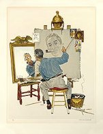 Triple Self-Portrait Limited Edition Print by Norman Rockwell - 1