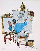 Triple Self-Portrait Limited Edition Print by Norman Rockwell - 2