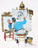 Triple Self-Portrait Limited Edition Print by Norman Rockwell - 0