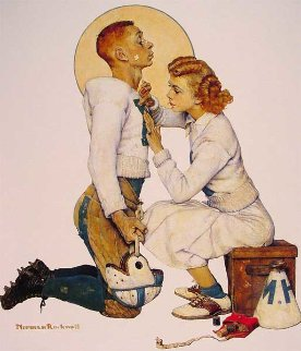 Football Hero Limited Edition Print by Norman Rockwell