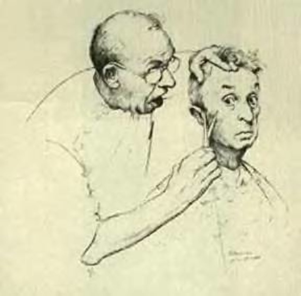 At the Barber 1974 Limited Edition Print by Norman Rockwell