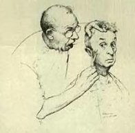 At the Barber 1974 Limited Edition Print by Norman Rockwell - 0